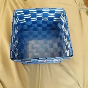 Other - Blue and white square basket